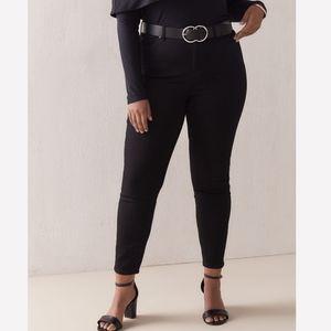 Addition Elle Black High Rise Skinny Jeans Plus